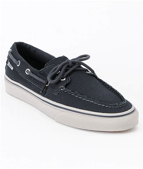 vans off the wall boat shoes vans zapato del barco ebony ice grey boat skate shoes