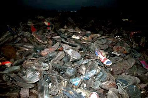 In A Burning Room Meaning by Exhibits At Auschwitz Museum Hair Shoes Suitcases