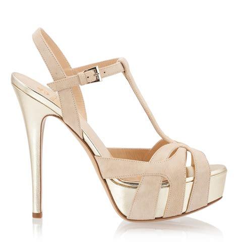 beige high heel sandals semilla beige suede leather t gold tone platform