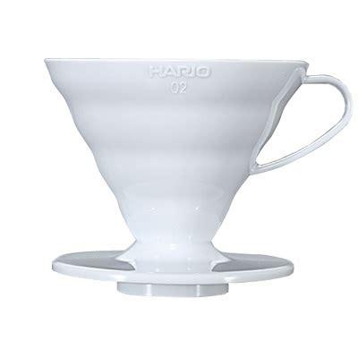 Hario V60 Plastic Dripper Size 02 White Hario V60 Plastic Dripper White 02 Vd 02w