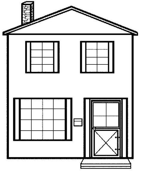 A Coloring Page Of A House | free printable house coloring pages for kids