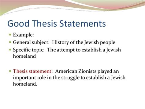 What Makes A Thesis Statement For A Research Paper - history thesis exles spondylolisthesis treatment