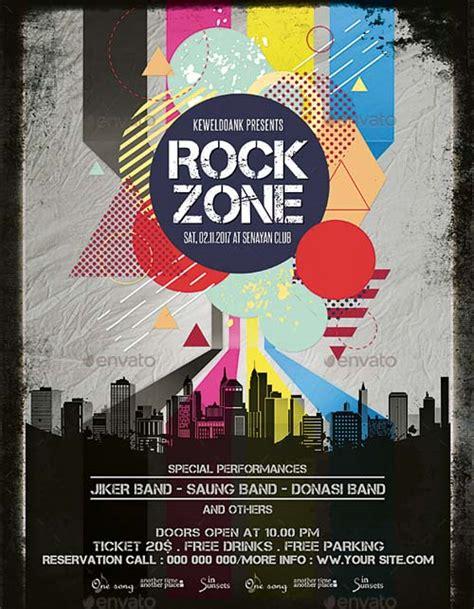 rock flyer template ffflyer rock zone flyer template for alternative rock