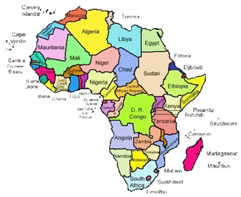 map of africa with country name countries map search countries