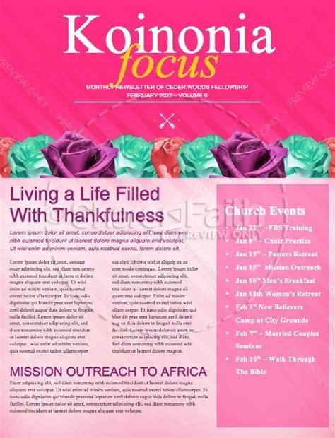 s day banquet christian newsletter template