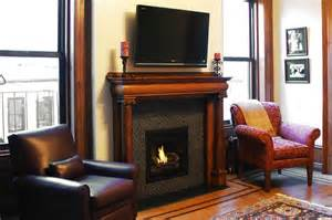hearth cabinet ventless fireplace small traditional
