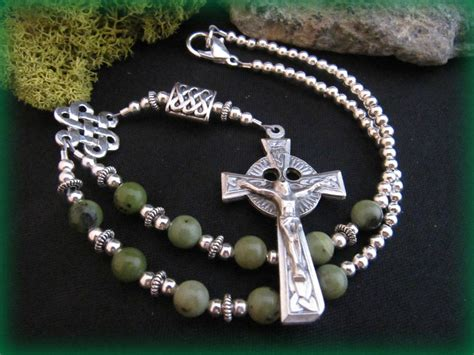 celtic rosary celtic auto rosary with connemara marble by