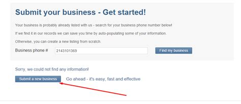 howto get your business listed on local search engines how to create a business listing using 2 find local