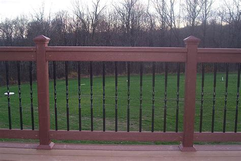 Black Balusters Deck Railings Pictures Custom Deck Railing Spindles And