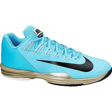 nike lunar ballistec s tennis shoe blue zinc black
