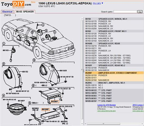 motor repair manual 1992 lexus es parking system lexus ls400 electric diagram lexus free engine image for user manual download