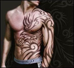 tribal stomach tattoos for men s chest stomach tattoos ink mens