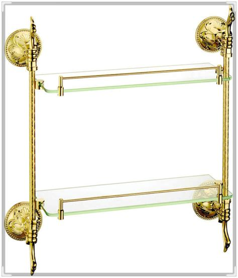 gold bathroom shelf torneira press brass glass shelf bathroom shelf shelves