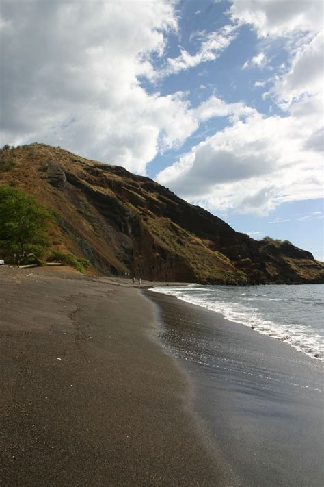 beach with black sand one uli black sand beach maui guidebook