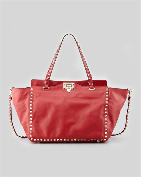 10 Valentino Bags by Lyst Valentino Rockstud Medium Leather Tote Bag In