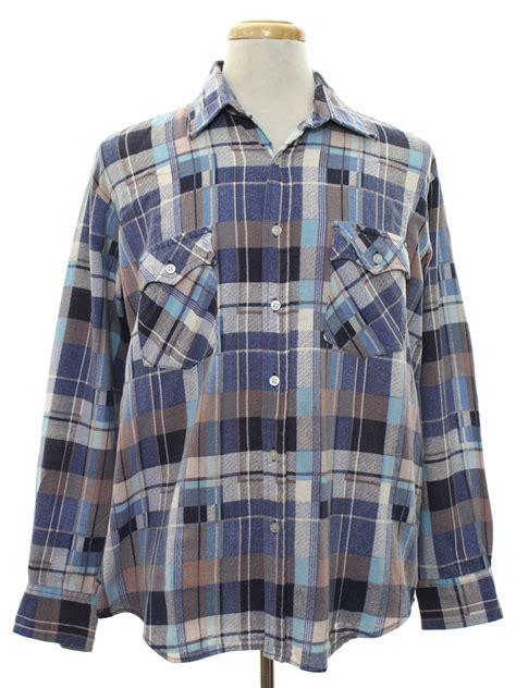 pattern blue lumberjack shirt vintage 1980 s western shirt 80s lumberjack mens dusty