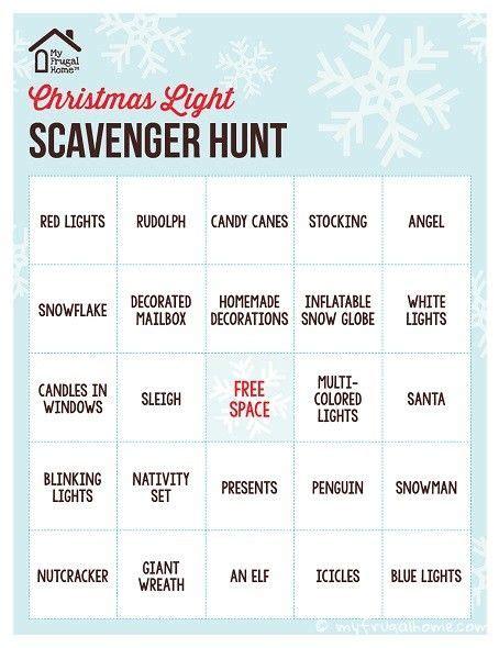 printable christmas scavenger hunt printable christmas light scavenger hunt christmas