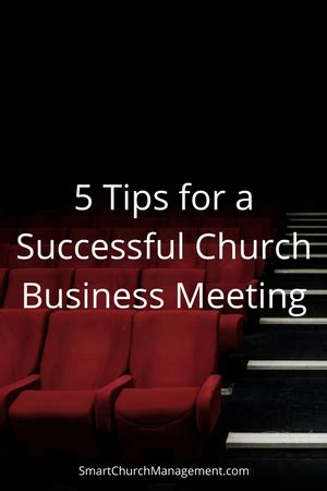 5 tips for a successful church business meeting