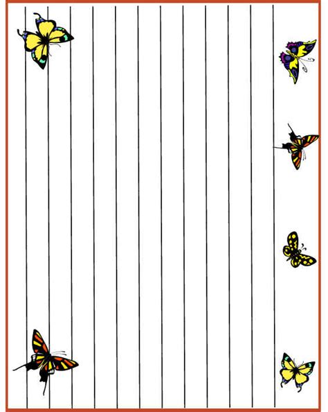 butterfly writing paper printable butterfly writing paper