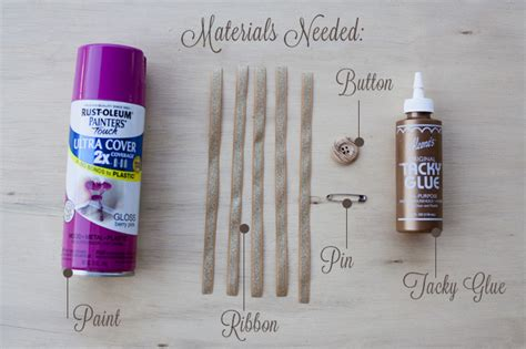 spray paint materials needed diy fabric button boutonniere