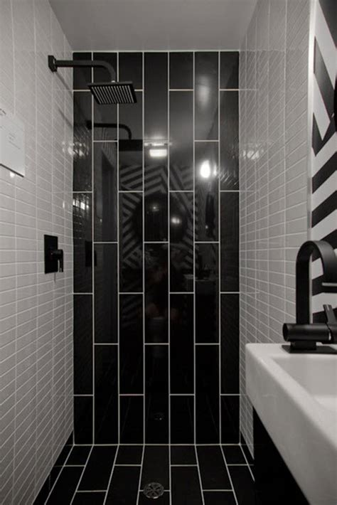 Black And White Tiled Bathroom Ideas by 36 Black And White Shower Tile Ideas And Pictures