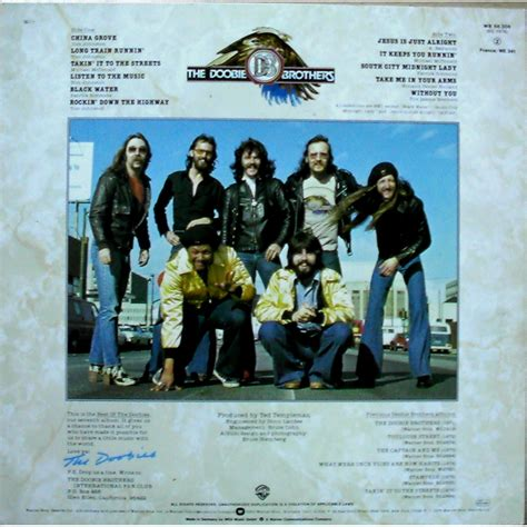 doobie brothers best of best of the doobies by the doobie brothers lp with disclo