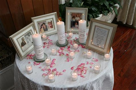 memory table at wedding reception quot memorial table quot at reception for a deceased parent