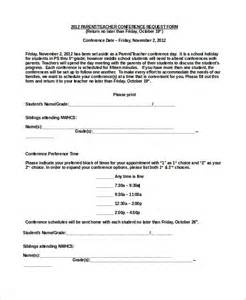sample parent teacher conference form 9 examples in