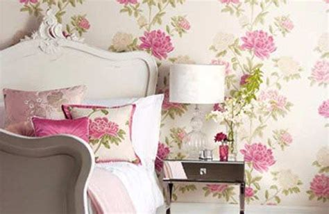 floral bedroom ideas top floral wallpaper for rooms decor woo