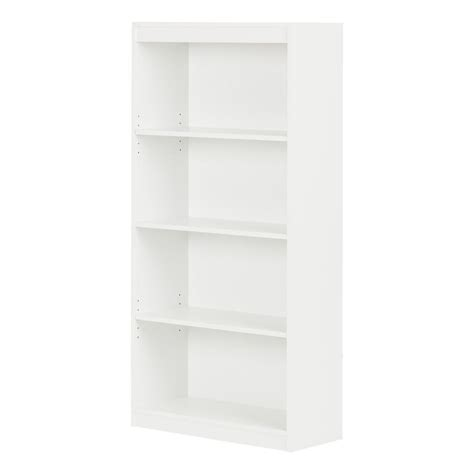 south shore axess collection 4 shelf bookcase pure white south shore axess 4 shelf bookcase in pure white 7250767c