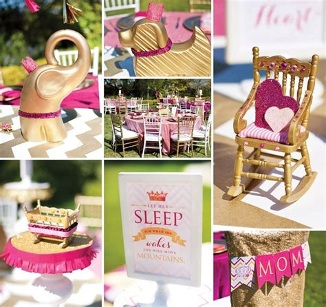 Royal Baby Shower Theme by Pink Glitter Gold Royal Baby Shower Recap Part 1