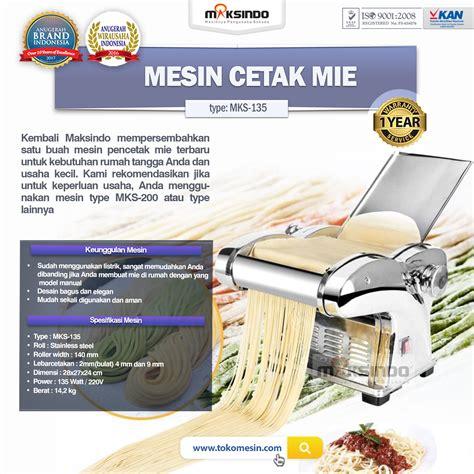 Jual Sho Metal Di Bekasi jual mesin cetak mie mks 135 di bekasi toko mesin
