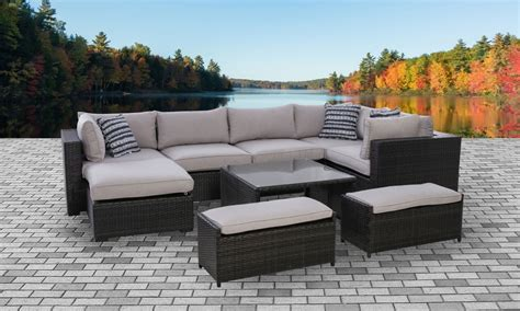 kensington complete outdoor sectional  table set