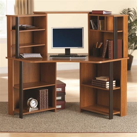 Student Corner Desk Computer Student Corner Desk Workstation Furniture Bedroom Office Cherry Black Ebay
