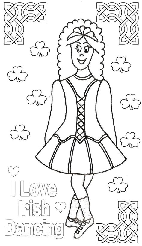 free coloring pages of irish step dancer