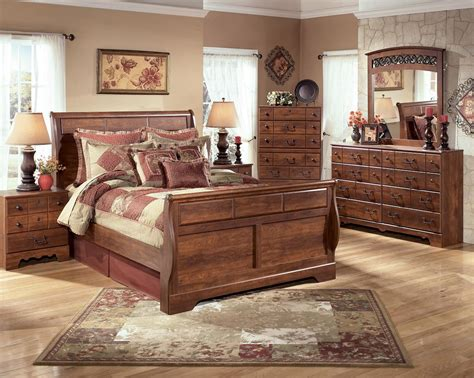 sleigh bedroom suites bedroom ashley timberline sleigh queen king bed suite ebay