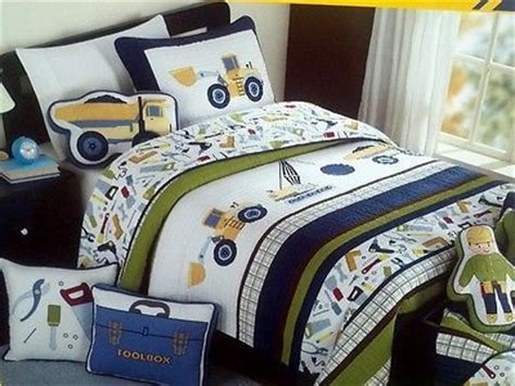 Construction Bed Set Boy Zone Construction Quilt Bedding 6pc Set Cotton W Sheets Trucks Bedrooms