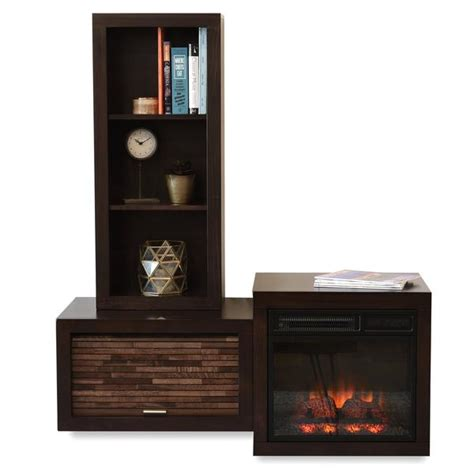 modern floating wall mount electric fireplace media