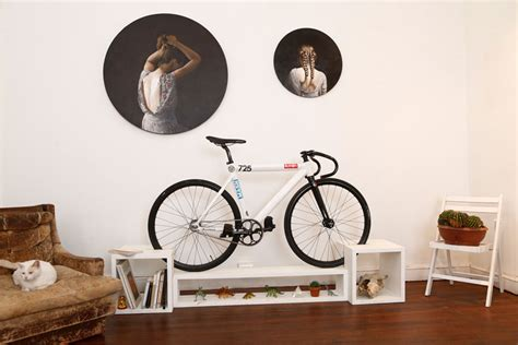 furniture doubles as bike racks to save space in tiny