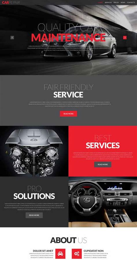70 Best Car Auto Website Templates Free Premium Freshdesignweb Car Repair Responsive Website Template Free
