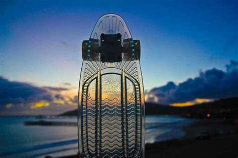 designboom quinny sunset skateboards led light equipped skateboard