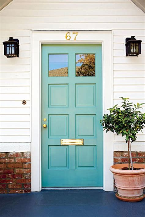 Best Front Door Colors by In Between Blue Green 13 Bold Colors For Your Front Door