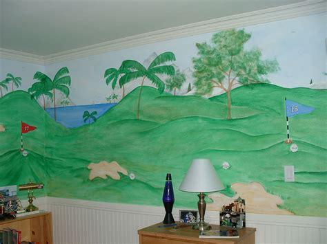 golf wall mural golf theme ideas quotes