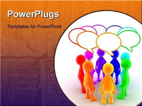 ppt templates for group discussion powerpoint template group of brightly colored figures