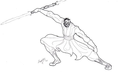 Darth Maul By Delta Kaoz On Deviantart Darth Maul Coloring Pages