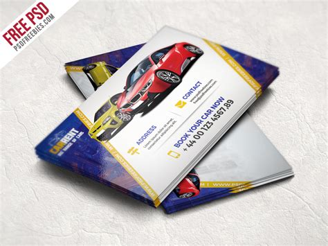 car business card templates free modern corporate business card free psd psdfreebies