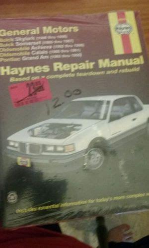 motor repair manual 1985 buick electra parental controls purchase repair manual haynes 38025 buick oldsmobile pontiac motorcycle in huntsburg ohio