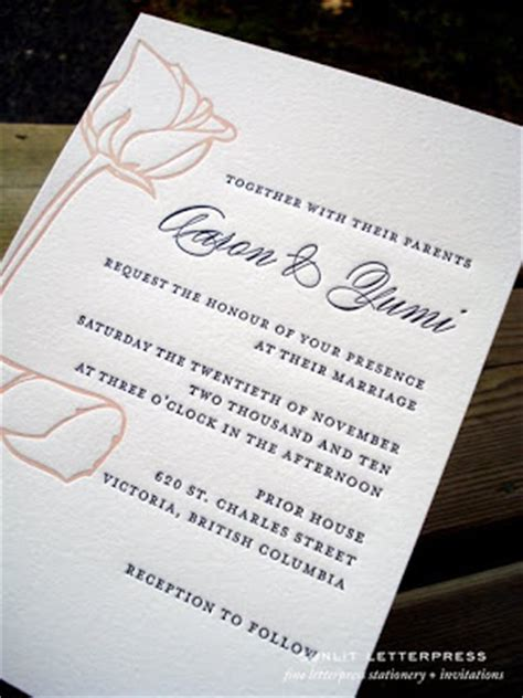 handmade wedding invitations vancouver adventures in letterpress letterpress stationery