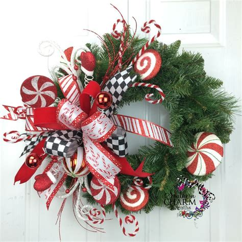 christmas reefs for sale wreath wreath peppermint whimsical wreath wreaths for sale