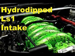 Diy Car Ports Hydrodipping The Ls1 Intake Manifold Youtube